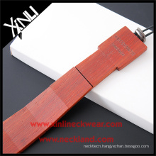 Men Private Label Ties Sandalwood Hand Made Wooden Necktie